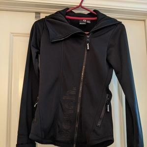 Women's XS Bench brand black zip up jacket.